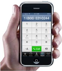 Smart phone pictured with number of United Labor Credit Union's touchtone teller access